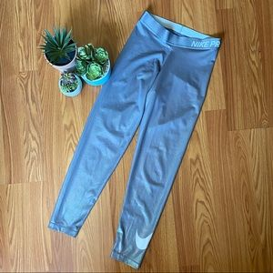 Nike Pro Silver Leggings